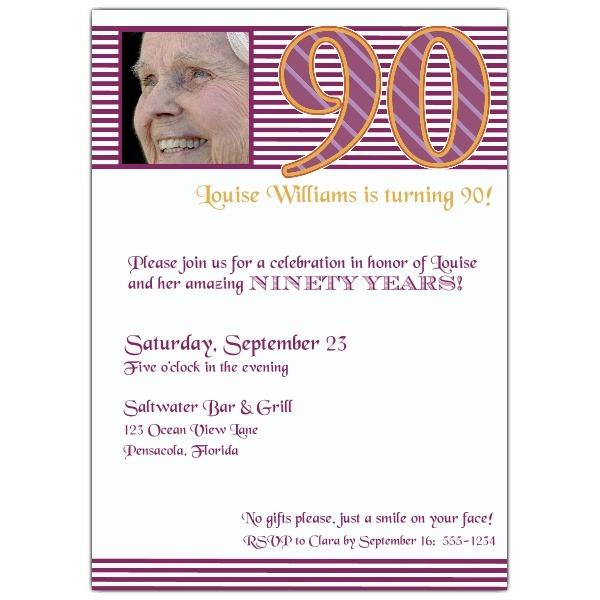 Invitation Ideas  90th Birthday Invitation Wording