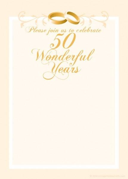 Th Wedding Anniversary Invitations Free Templates Fbbebeef