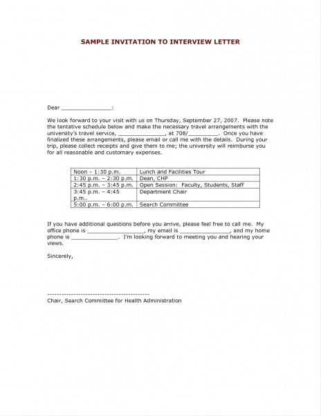 Residency Interview Invitation Reply
