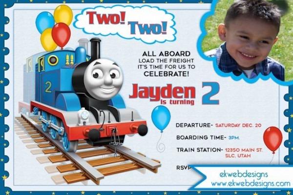 Thomas The Train Choo Epic Thomas Train Birthday Invitation