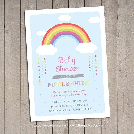 Tie Dye Baby Shower Invitations