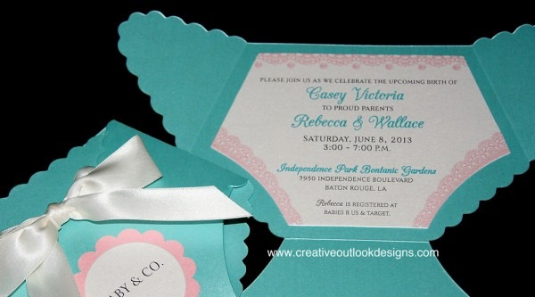Tiffany Co Inspired Baby Shower Invitations