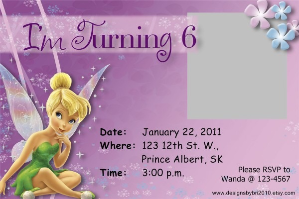 Free Tinkerbell Invitations