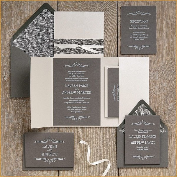 Lovely Tissue Paper Inserts For Wedding Invitations