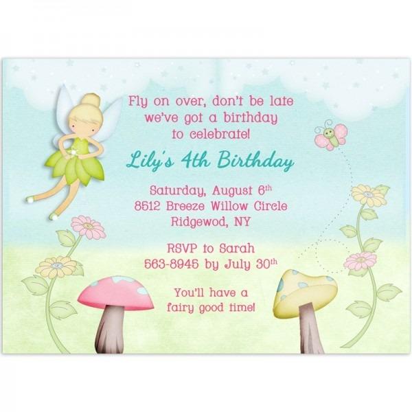 fairy birthday invites