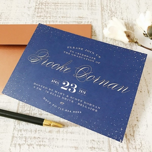 Classic Traditional Graduation Announcements Invitations And
