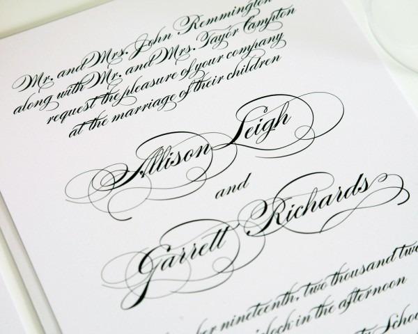 Pocket Wedding Invitations  Traditional Wedding Invitations