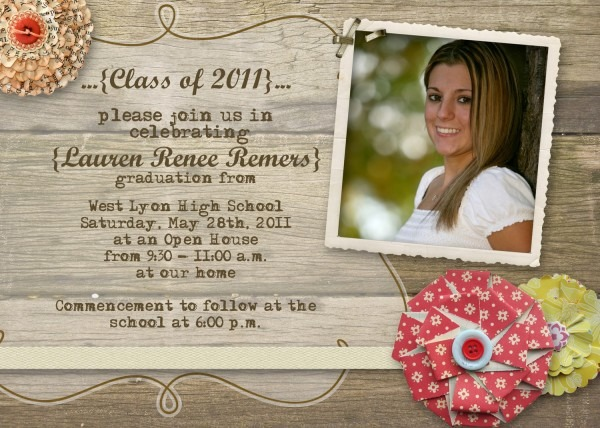 Trend High School Graduation Open House Invitations 80 About