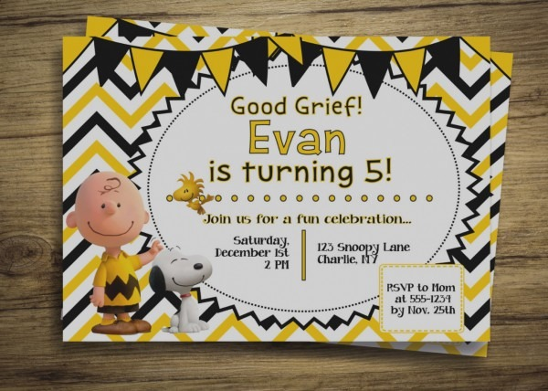Trend Of Snoopy Birthday Party Invitations Charlie Brown