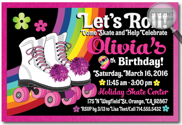 Trend Roller Skating Party Invitations
