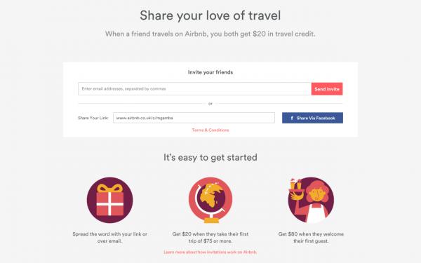 A New Design For The Airbnb Invite Program  👦📨👫