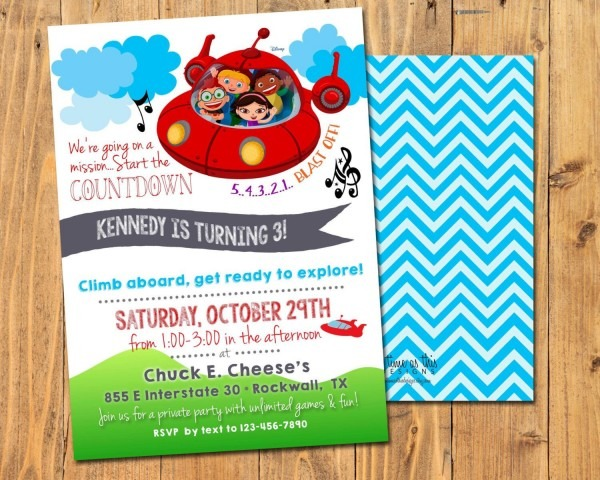Twin Birthday Invites Little Einsteins Invitations