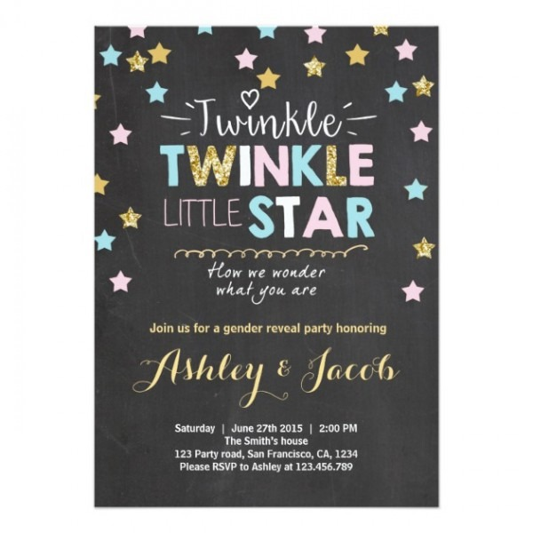 Twinkle Twinkle Little Star Invitation Template Perfect With