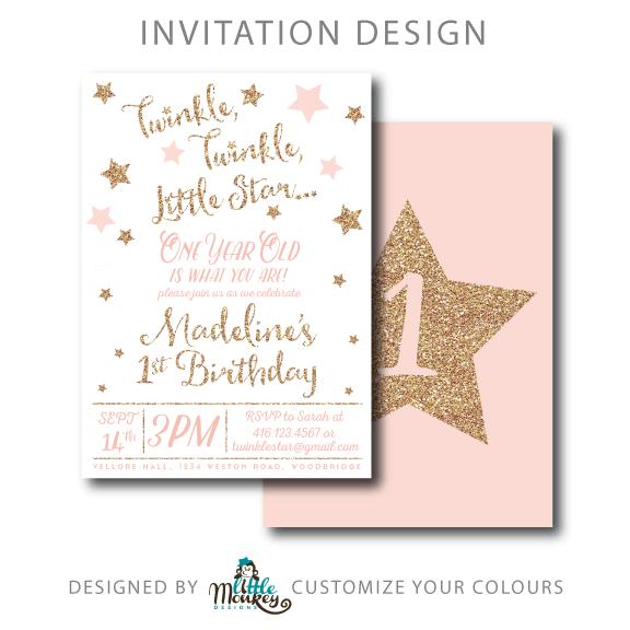 Invitation  Twinkle Twinkle Little Star Invitation Template