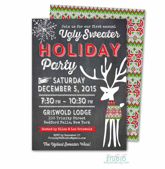 Ugly Sweater Party Invitations Christmas
