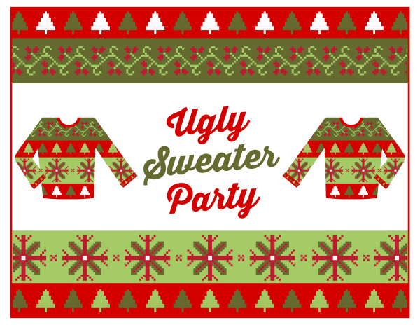Invitation Ideas  Free Ugly Sweater Party Invitations