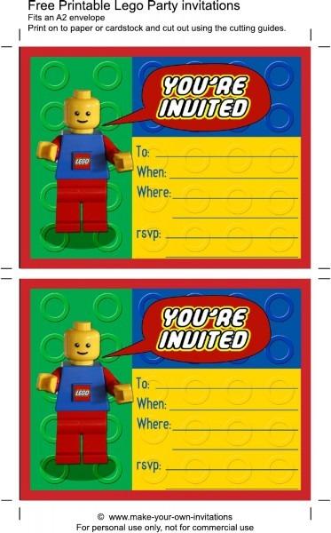 Unique Lego Birthday Invitation Template
