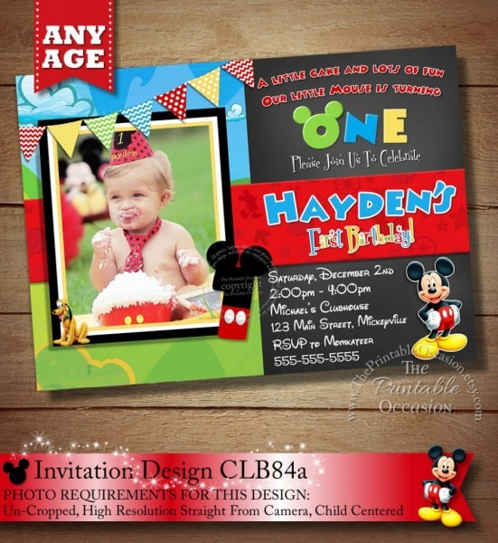 Unique Mickey Mouse Clubhouse Birthday Invitations Personalized 16
