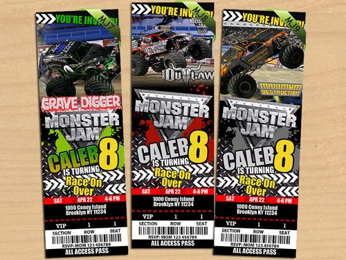 Bblpbcp Perfect Monster Jam Party Invitations