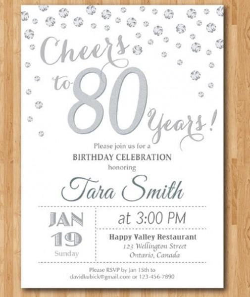 Golden Confetti Th Birthday Fancy 80th Birthday Party Invitations