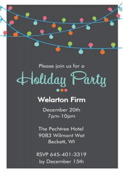 Company Party Invitations