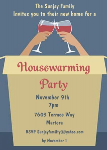 Housewarming Invitations New Selections Winter 2018