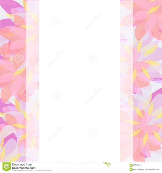 Vector Background Template Wedding Or Birthday Invitation