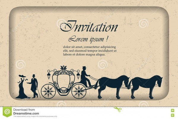 Vector Vintage Luxury Wedding Invitation, Lady, Gentleman And The