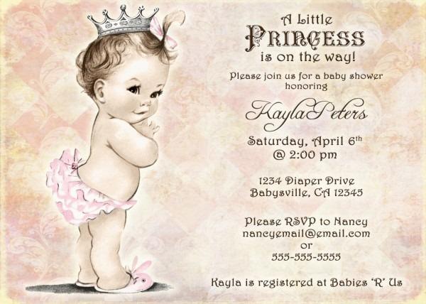Vintage Baby Shower Invitations Vintage Baby Shower Invitations