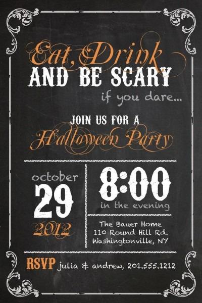 Vintage Blackboard Poster Sweet 16 Birthday Invitation Diy