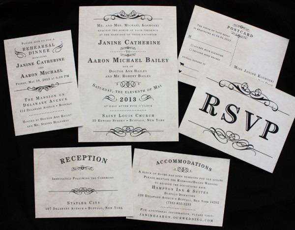 Vector Vintage Style Boarding Pass Ticket Wedding Invitation