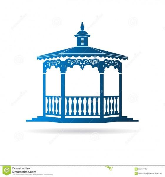 Wedding Gazebo Logo Stock Vector  Illustration Of Home