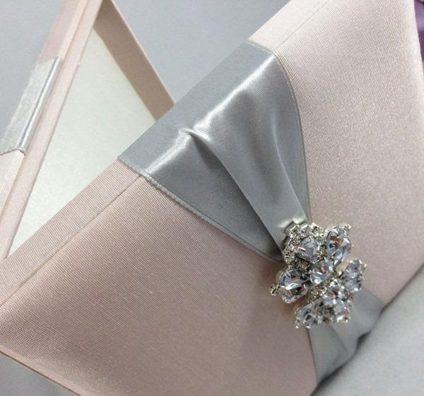 Square Shaped Luxury Box For Wedding Invitations