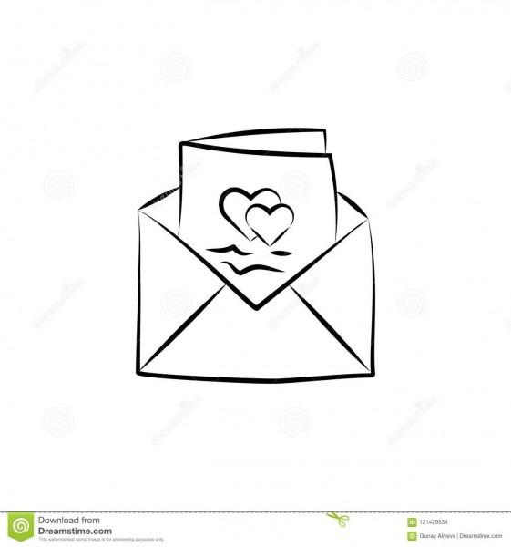 Wedding Invitation Card Sketch Illustration  Element Of Wedding