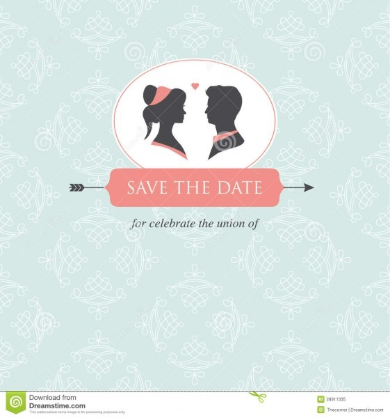 Wedding Invitation Card Template Stock Illustration