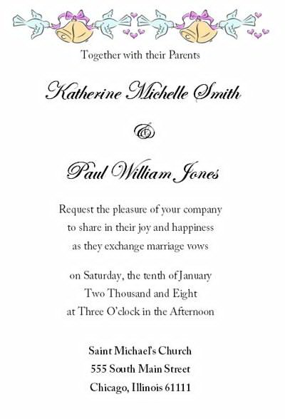Wedding Invitation Email Template New With Wedding Invitation