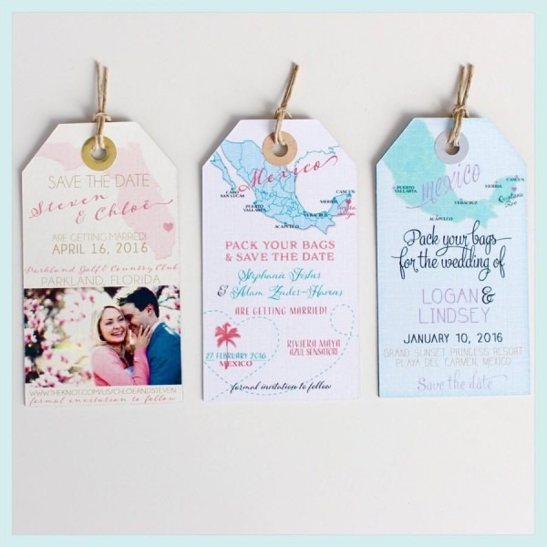 Wedding Invitation Magnet Sample  Save The Date Luggage Tags  Not