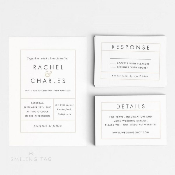 Wedding Invitation Printable Suite Printable