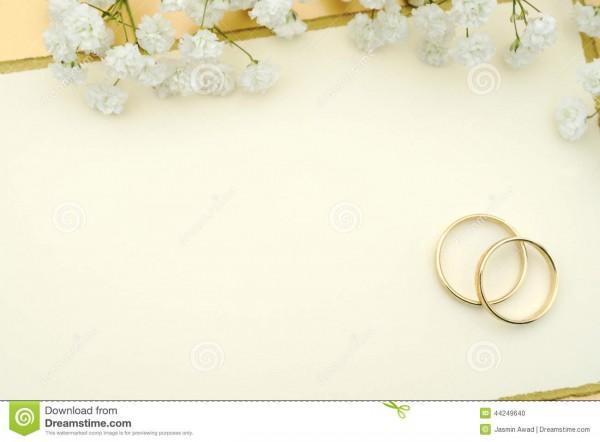 Wedding Invitation Stock Photo  Image Of Ring, Invitation
