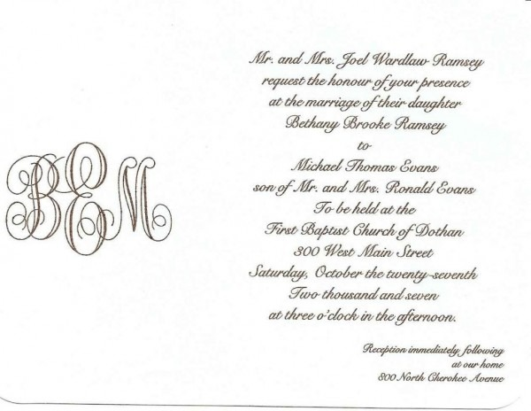 9+ Example Of Invitation Letter For Wedding