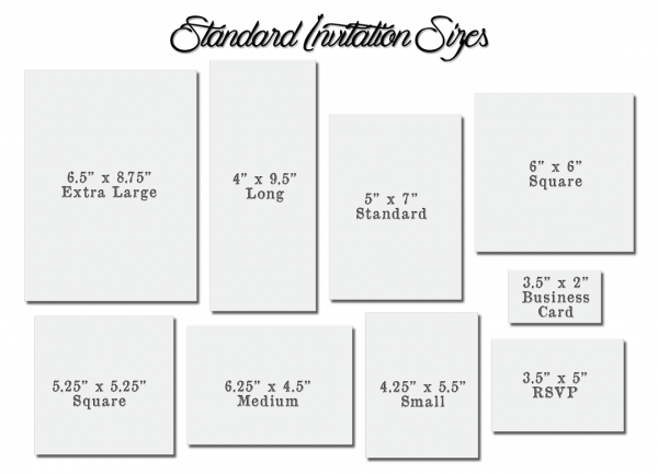 Wedding Invitation Sizes Wedding Invitation Sizes Create Your
