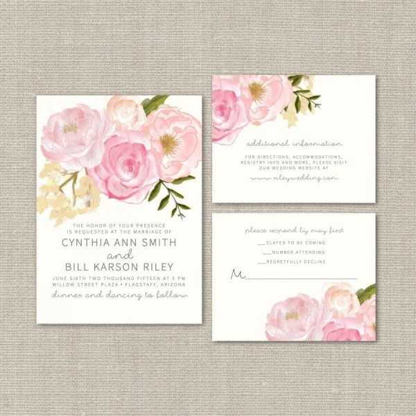 Wedding Invitation Suite Deposit