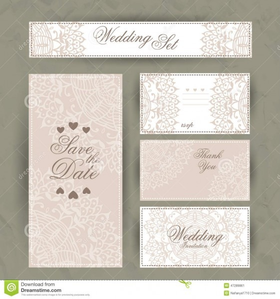 Wedding Invitation, Thank You Card, Save The Date Cards  Rsvp Card