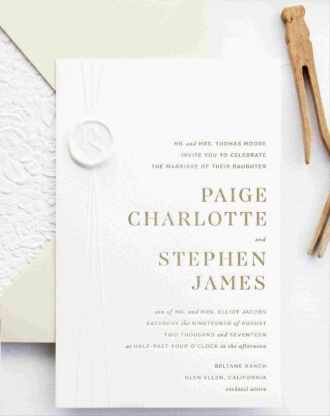 Wedding Invitation Tissue Paper Placement