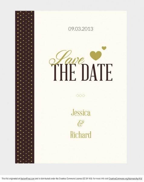 Free Vector Wedding Invitation