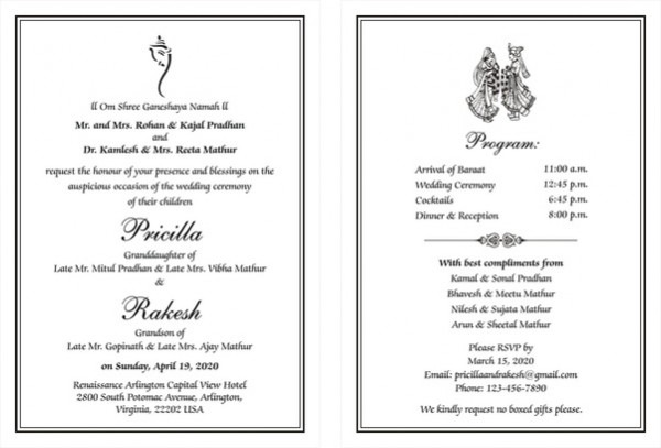 Wedding Invitation Content – Free Invitation Templates
