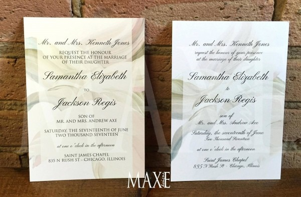 206458 Wedding Invitations Chicago Custom Wedding Invitations