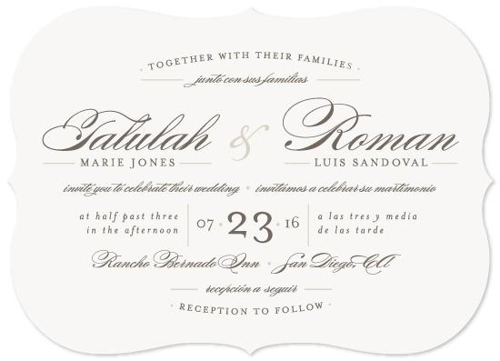 Spanish Wedding Invitations On Seeded Paper Feliz By