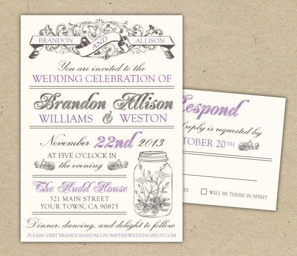 Wedding Invitations Templates Free Download Wedding Invitations