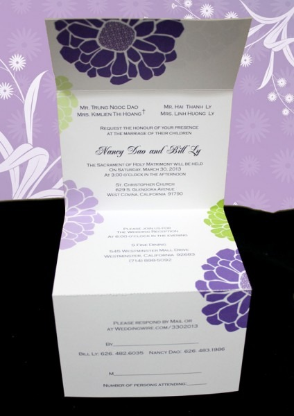 Wedding Invitations With Rsvp Card Attached Archives
